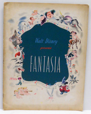 1940 Walt Disney Presents FANTASIA Premiere Souvenir Theatre Program First Ed.