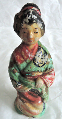 3.5 inch Japanese Antique Porcelain doll : wearing a Kimono
