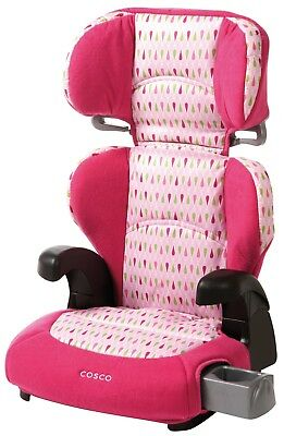 Booster Seat Cosco Pronto Belt Positioning Booster Car Seat in Teardrop Pink