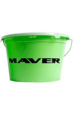 Maver 13 Litre Groundbait Bucket & Lid Comfort Handle Carp Fishing