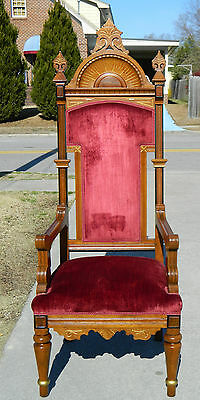 Walnut Victorian Eastlake Pulpit/Throne Chair