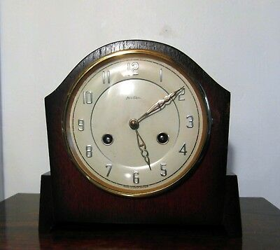 1950's Art Deco Bentima 8 Day Clock with Perivale Platform Escapement FWO & Key