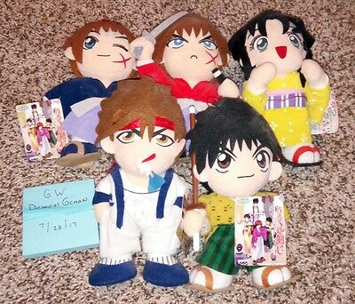 Rurouni Kenshin Vintage UFO Catcher Plush Doll COMPLETE SET Figure