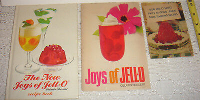 3 VTG Jello Cookbooks New Joys Recipes Advertising Lot