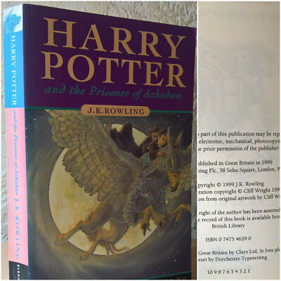 Harry Potter and the Prisoner Of Azkaban, J. K. Rowling, 1999 [First Edition]