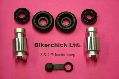 Complete FRONT Brake Rebuild KIT Includes Shoes, Wheel Cylinders, Hardware for 1993-2000 Honda TRX 300 Fourtrax 4x4