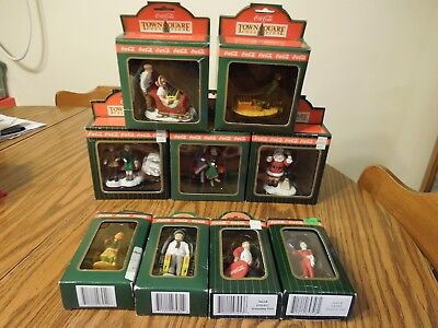 Coca Cola Town Square Collection Lot of 9 1992-1996 figurines