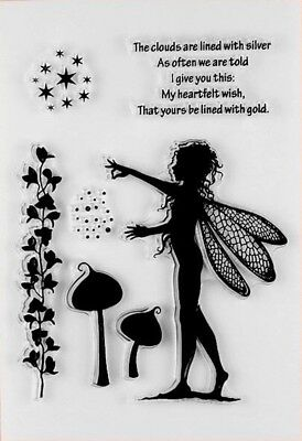 NEW Fairy Clear Stamp Set