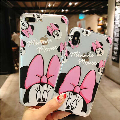 For iPhone X 6 8 Plus 3D Cute Disney Cartoon Soft Silicone Shockproof Case Cover