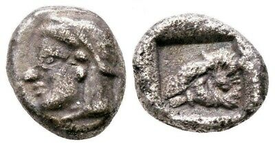 Asia Minor Troas Kebren Greece Greek Silver Triobol Authentic Ancient Rare Coin