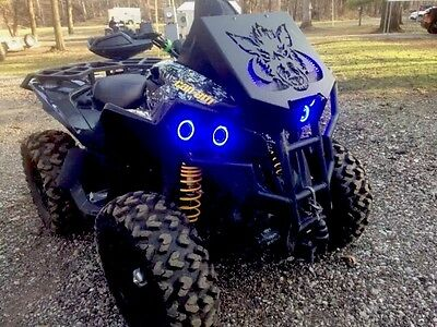 Can Am Renegade Halo rings lights set 4 - Blue Angel Eyes
