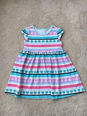 "2T girls NWT Gymboree /""Mix n Match/"" long sleeved teal pocket hearts dress"