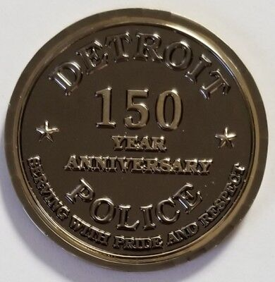 Detroit Metropolitan Police Department Michigan MI 150 Anniversary Black Nickel