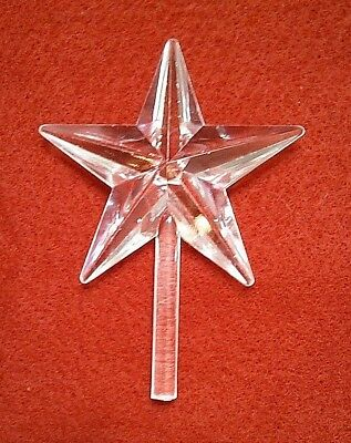 Clear Star Ceramic Christmas Tree  Large  Classic  Topper