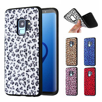For Samsung Galaxy Note 9/8 S9/S8 Plus Leopard Pattern Slim Fur TPU Case Cover