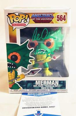 Alan Oppenheimer Merman Signed Funko Pop Motu Bas Coa 527