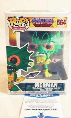Alan Oppenheimer Merman Signed Funko Pop Motu Bas Coa 523