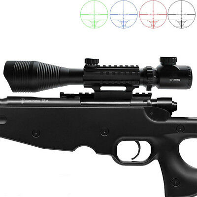 Optical 4-12X50Red Green Dual illuminated with Side Rails-Mount For Airsoft New