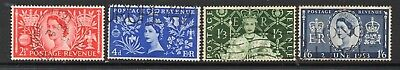 1953 Coronation Set Of 4 SG532-535 Used As Scanned