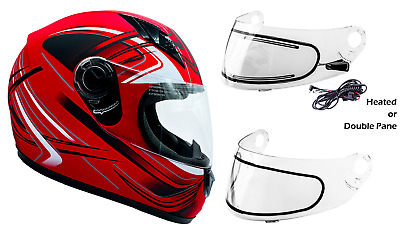 XL Polaris Blaze Adult Full-Face Helmet with Anti-Fog Flip Shield