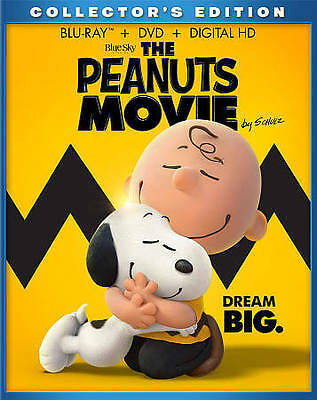 The Peanuts Movie (Blu-ray/DVD, 2016, 2-Disc Set, includes slipcover)