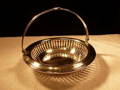 Towle J E Caldwell Sterling Silver Articulated Stylized Handled Basket Bowl