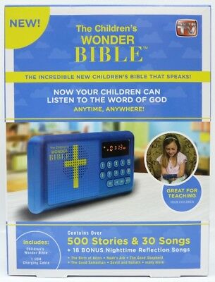 New The Children's Wonder Bible As Seen On TV 500 Stories and 30 Songs