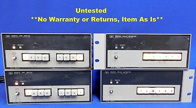 Agilent HP Keysight 59307A VHF Switch & 59306A Relay Actuator Set of 4 As Is