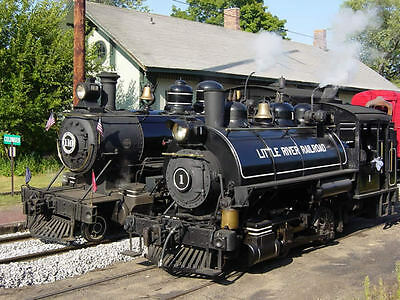 Little River Railroad Double Headed Steam Engines Coldwater Michigan