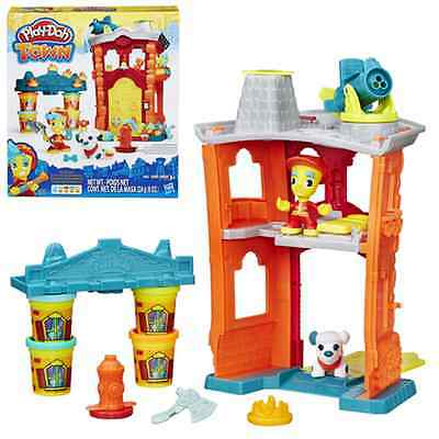 Play-Doh ~ Play-Doh Town ~ FIREHOUSE Playset by Hasbro