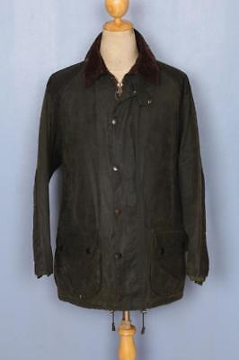 BARBOUR Beaufort Sporting Waxed Jacket Green Size 40 Medium