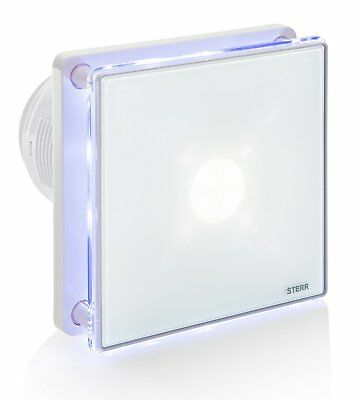 """STERR - Bathroom extractor fan with LED backlight and timer 100mm/4"""" - BFS100LT"""