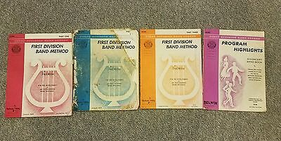 "BELWIN MILLS FIRST DIV. BAND METHOD: DRUMS"" 1960's WEBER +SAM ULANO GUIDE 7 BOOK"