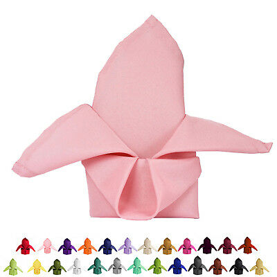 """20x20"""" Wholesale Polyester Linen Napkins For Birthday Party Tableware - 5 PCS"""