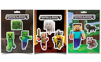Authentic MINECRAFT Mobs Nether Mob Caves Steve Pets 12 Sticker Pack NEW