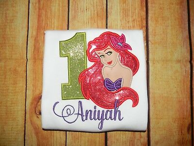 LITTLE MERMAID BIRTHDAY Shirt Ariel Birthday Mermaid Party PERSONALIZED