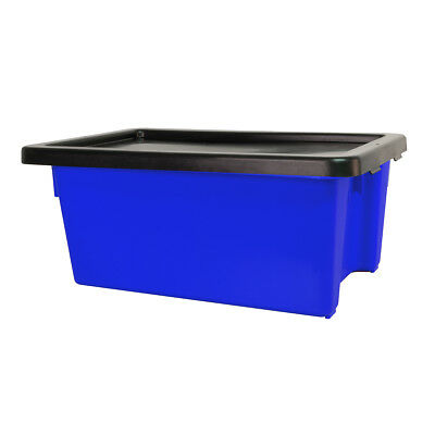 Ingredient Storage Tub Blue 52L & Lid Okka Food Grade Container Box Tubs