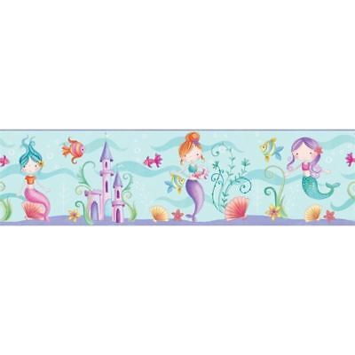 Sea Life Ocean Mermaid Wallpaper Border Children Bedroom Play Room Fun 4 Walls
