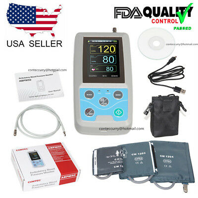 CONTEC Ambulatory Blood Pressure Monitor+Software 24h NIBP Holter ABPM50 CE&FDA