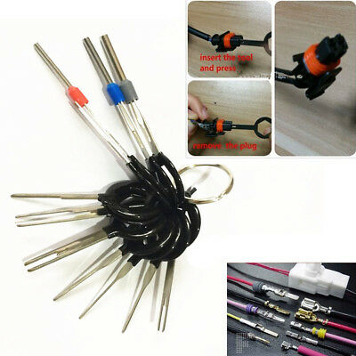 11PC Terminal Removal Tool Car Key Wiring connector Pin Release Extractor Puller