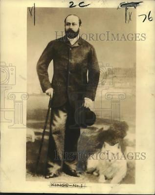 """1936 Press Photo King Edward VII when in 1880 when was still """"Prince of Wales"""""""