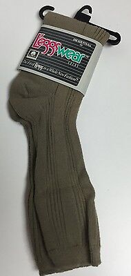 Vintage NOS 80's Leggs Cotton Blend Crew Socks 9-11 Green Khaki