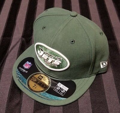 098d7e5f NFL NEW YORK Jets Logo 59Fifty by New Era hat cap green NWT size 7 1/4