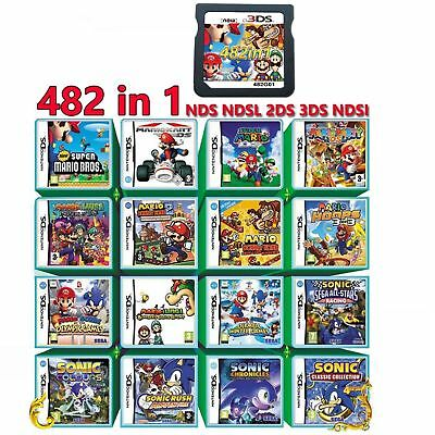 Video Game 482 In 1 Cartridge Console Card For Nintendo NDS NDSL 2DS 3DS NDSI