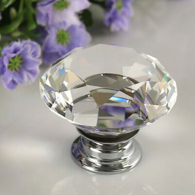 3cm Crystal Acrylic Door Knobs Drawer Pull Cabinet Furniture Kitchen Handle