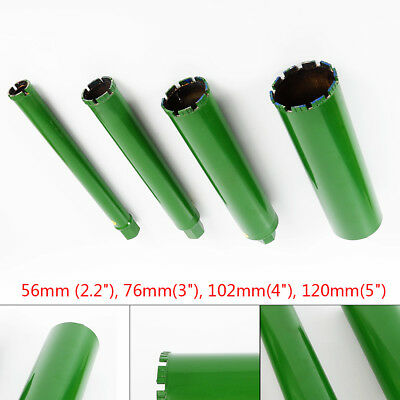 4X 2.2'' 3'' 4'' 5''Wet Diamond Core Drill Bit for Concrete Premium Green Series