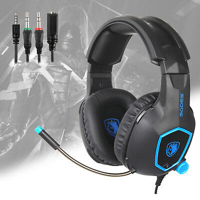 SADES SA818 Gaming Headset for PS4 New Xbox One PC Stereo 3.5mm Headphones w MIC