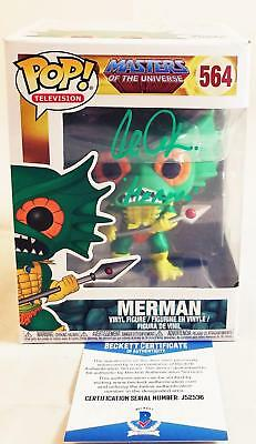 Alan Oppenheimer Merman Signed Funko Pop Motu Bas Coa 536