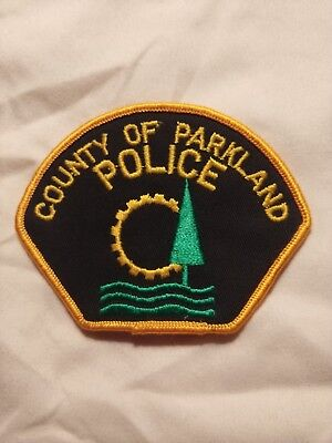 obsolete Canadian Alberta County Of Parkland Police Patch