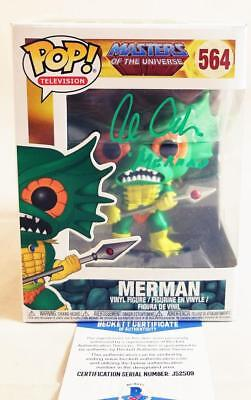 Alan Oppenheimer Merman Signed Funko Pop Motu Bas Coa 509